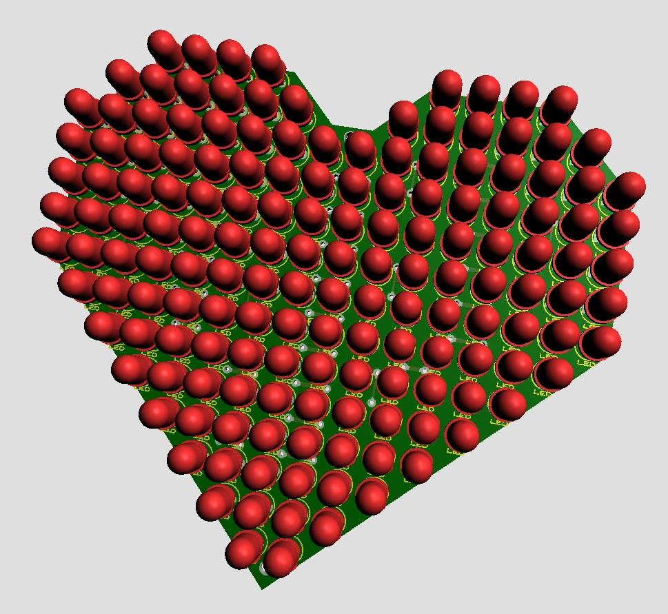 Full file thiết kế + code Đồng hồ LED trái tim Ma trận LDNam - Điện tử LDNam