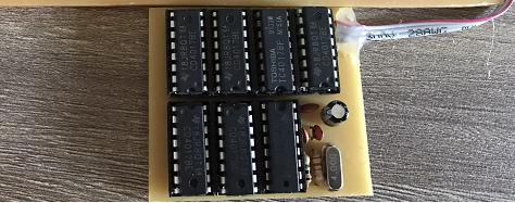 Mạch chia tần số 6 LED 7 đoạn anode chung thạch anh 4M LDNam