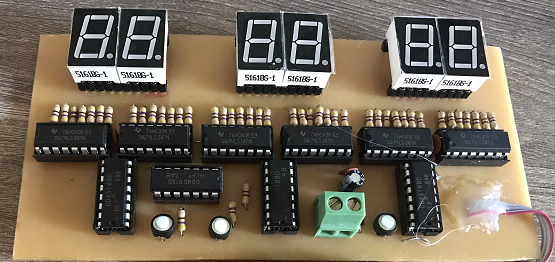 Bộ file thiết kế đồng hồ số IC số 6 LED 7 đoạn anode chung thạch anh 4M LDNam - Điện tử LDNam